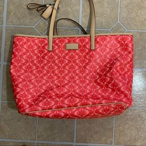 Coach Pink Optic Dream C Tote